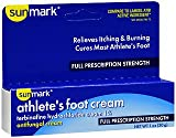 Sunmark Athletes Foot Cream Full Prescription Strength, 1 oz by Sunmark (Pack of 2)