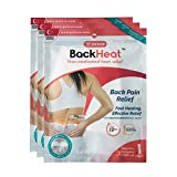 BackHeat Heat Patch for Back Pain Relief and Comfort from Backaches - Pack of 3 (patches/wraps/pads)