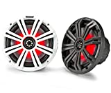 Kicker KM8 8-Inch (200mm) Marine Coaxial Speakers with 1-Inch...