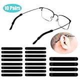 NETTEMPT 10 Pair Soft Silicone Eyeglasses Temple Tips Sleeve...