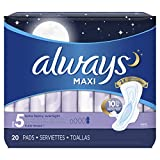 Always Maxi Extra Heavy With Wings Overnight Pads, 20 Each (Pack...