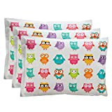 Bentology Ice Pack for Lunch Boxes (3 Pack) Non Toxic (6'x4.5') Owl