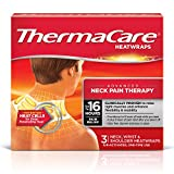 ThermaCare Advanced Neck Pain Therapy (3 Count, Pack of 3) Heatwraps, Up to 16 Hours Pain Relief, Neck, Wrist, Shoulder Use, Temporary Relief of Muscular, Joint Pains