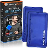 Gel Cold & Hot Packs (2-Piece Set) 5x10 in with Adjustable Wrap....