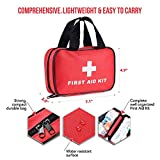 SlimK 112 Piece First Aid for Car Emergency Kit Home Medical Camping Office Travel Compact Kit