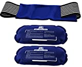 Ice Pack (2-Piece Set) - Reusable Hot and Cold Therapy Gel Wrap...