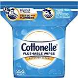 Cottonelle FreshCare Flushable Wipes for Adults, Alcohol Free,...