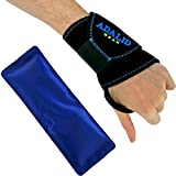 Wrist Support Brace with Gel Ice Pack for Hot and Cold Therapy - Adjustable Wrap, Multi-Purpose, Microwaveable and Reusable (One Size, Left or Right Hand)