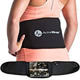 ActiveWrap Back Pain Support Wrap - Includes Reusable Hot Cold Therapy Pack - Lower Lumbar Brace for Sciatic Nerve Pain Relief (S/M (24'-34'))