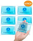 3x5 Gel Pack Reusable - 6 Hot or Cold Ice Packs for Overheating, Injuries, Pain Relief First Aid By IceWraps