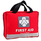309 Piece First Aid Kit for Medical Emergency - Night Reflective Bag - Includes Emergency Blanket, Bandage, Scissors for Home, Car, Camping, Office, Boat, and Traveling