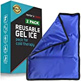 Gel Cold & Hot Pack (2 Pack)- 11x14 in. Reusable Warm or Ice...