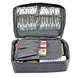 Grey Outdoor Travel First Aid Kit Bag Home Small Medical Box Emergency Survival kit Treatment Outdoor Camping (Grey)