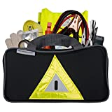Roadside Emergency Kit Includes – First Aid Kit, Jumper Cables, Tow Rope, and many other Supplies – 106 Pieces for assistance with most Roadside Emergencies
