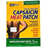 10 Pk. Coralite Topical Analgesic Capsaicin Heat Patch - Compares to Salonpas