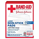 BAND-AID First Aid Non-Stick Pads, Large, 3 in x 4 in, 10 ea...