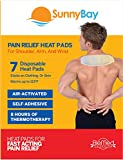 Sunny Bay Air-Activated Neck & Shoulder Heat Patches, 8 Hours of Heat, Warm to 100 ºF, Light Weight, Lasting Heat (Shoulder Heat Patches 7 pack)