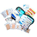 70 Piece First Aid Kit for Home, Auto or Travel Blue Zippered case by MFASCO
