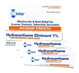 3 PACK Hydrocortisone Maximum Strength Ointment 1%, USP 1 Oz (Compare to the Active Ingredients in Cortizone-10)