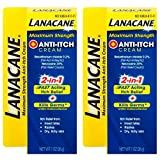 Lanacane Maximum Strength Anti Itch Cream, 1 oz (Pack of 2)
