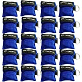 CPR Mask Keychain Ring Pack of 20pcs Emergency Kit Rescue Face Shields with One-Way Valve Breathing Barrier for First Aid Or AED Training (Blue-20)