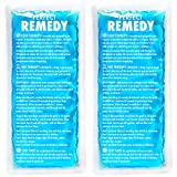 Gel Ice Packs for Injuries (2 Pack) - Reusable Cold/Hot Compress...