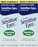 Bausch & Lomb Sensitive Eyes Rewetting Drops for Soft Contact...